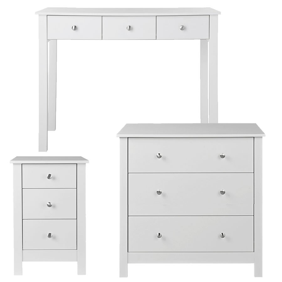 Nightingale White Bedroom Suite Package Bedside Table