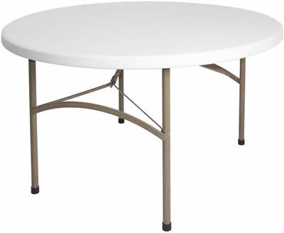 Samey Foldaway Round Utility Table 4Ft