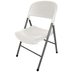 Alex Foldaway Steel Chair Indoor Or Outdoor Use - White
