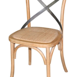 Pair Lucy Retro Vintage Style Natual Finish Wooden Dining Kitchen Chair Fully Assembled