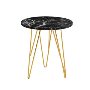 Foller Lamp Table Black Marble