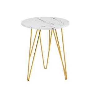 Foller Lamp Table White Marble