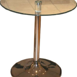 Rayton Glass Chrome Kitchen Dining Table