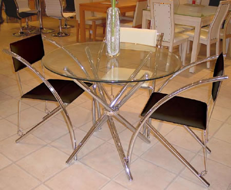 Fesco Glass Circular Round Dining Table
