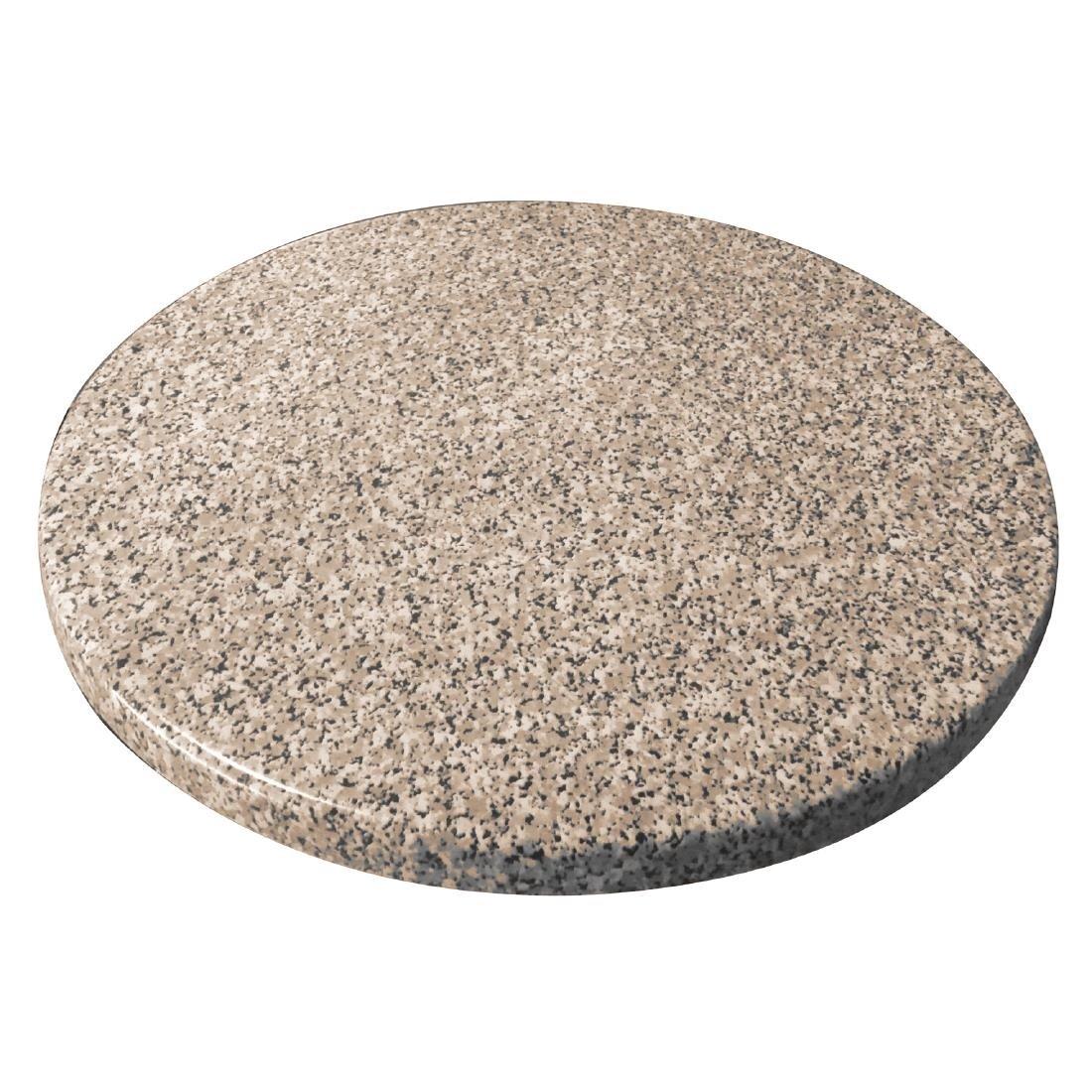 Monero Commercial 80Cm Round Table Top Granite Effect