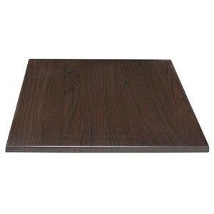 Monero 60Cm Dark Brown Square Kitchen And Dining Table Top Commercial Quality