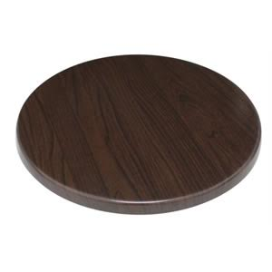 Monero 60Cm Round Table Top Dark Brown Commercial Quality