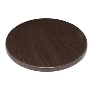 Monero 80Cm Round Table Top Dark Brown Commercial Quality