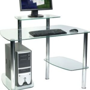 Glaco Workstation - Glass Desk