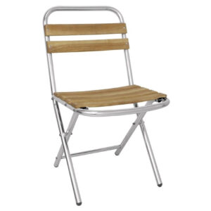 Jenny Ash And Aluminium Folding Chairs For Indoor And Outdoor Use Price Per Pair Spacesaver Chairs Fully Assembled
