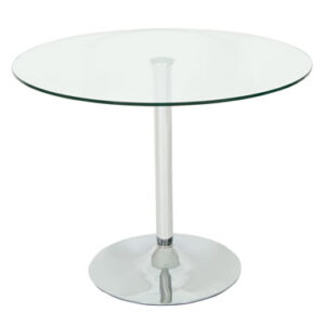 Hartley Glass Dining Kitchen Table Round Clear Top