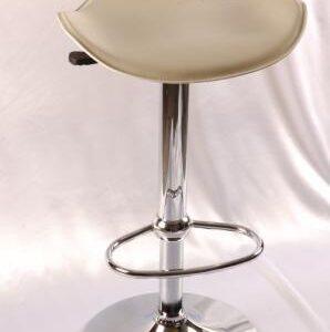Hermy Cream Adjustable Kitchen Bar Stool Padded