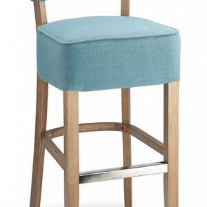 Gosost Fabric Wooden Kitchen Bar Stool - Teal