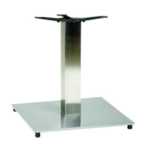 Pluto Square Coffee Stainless Steel Table Base