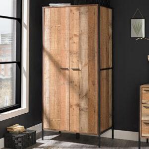 Hector 2 Door Wardrobe Distressed Oak Effect