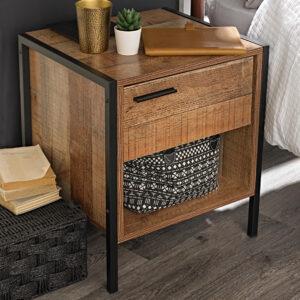 Hector Bedside Cabinet Distressed Oak Effect