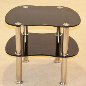 Swirl Black Side Table