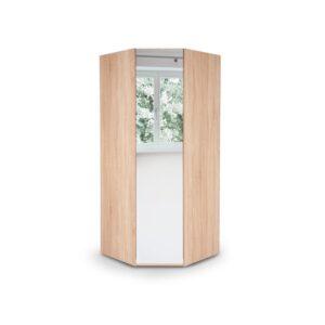 Eitan Quality Bedroom Corner Mirror Wardrobe - Variety Of Colours - Oak