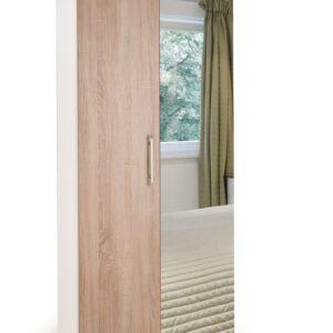 Eitan Quality Bedroom Mirror Wardrobe - Variety Of Colours