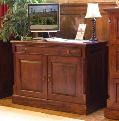 Bennetton Solid Mahogany Home Office Desk - Fully Assembled