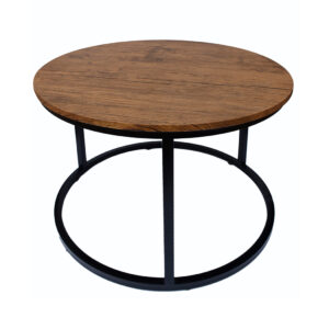 Jeddy Coffee Table Black Frame-Distressed Tops