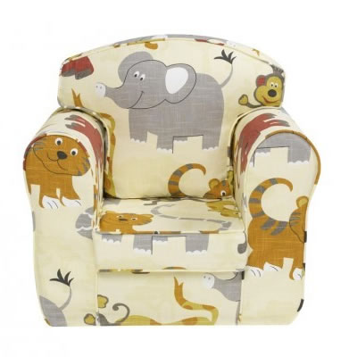 Faycon Kids Tub Chair Loose Cover Chair Jungle Design