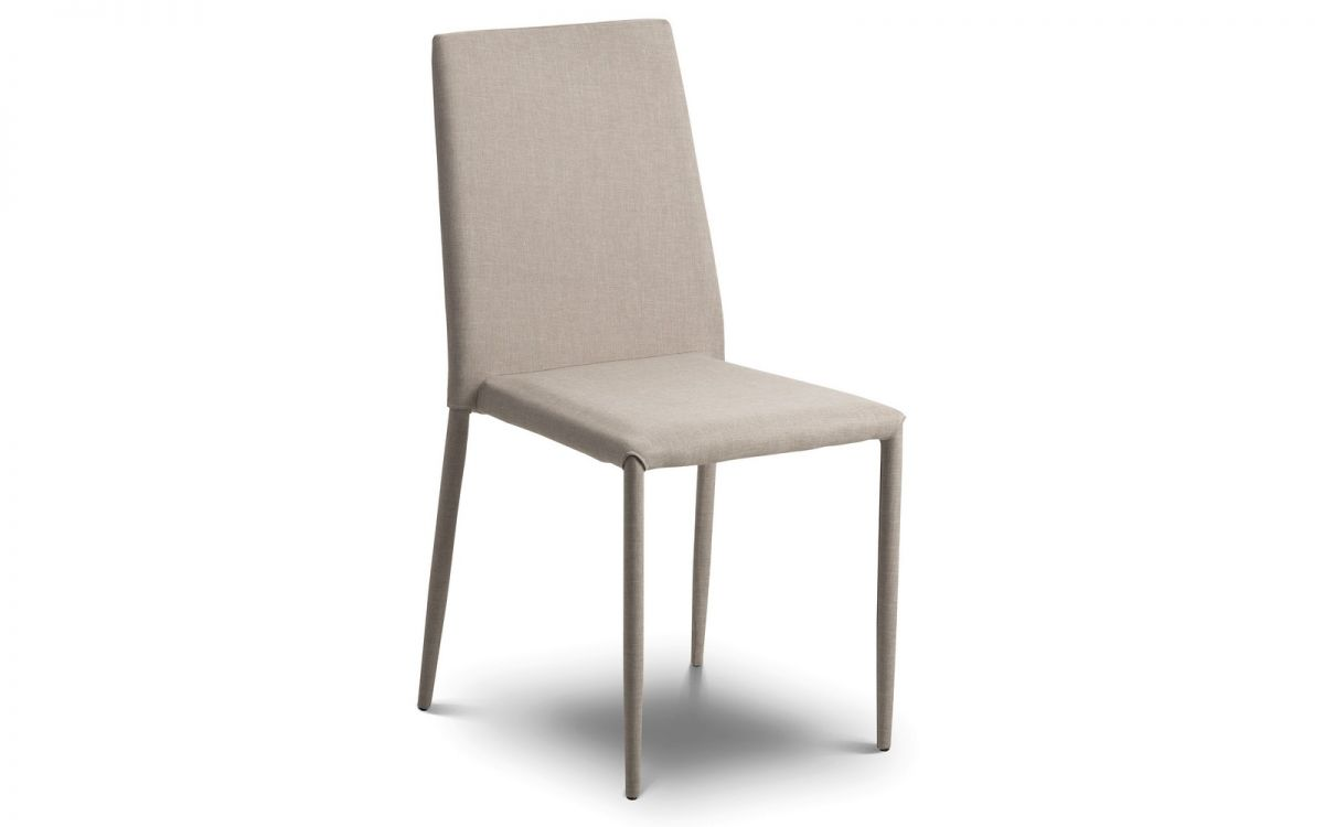 Jonef Fabric Sand Modern Stylish Dining Chair - Fully Assembled And Stackable