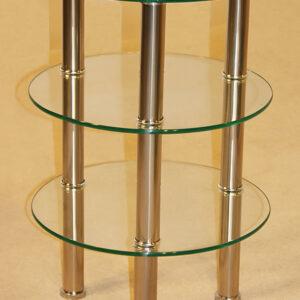 Kanser 3 Shelves Round Side Table