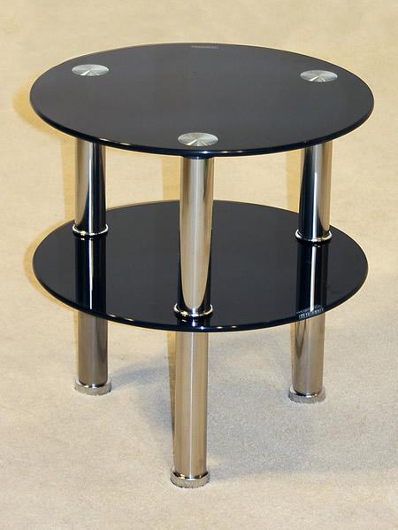 Kanser Round Side Table Black