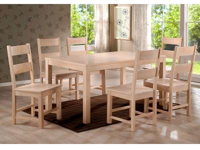 Kanta Wood Table And Chairs