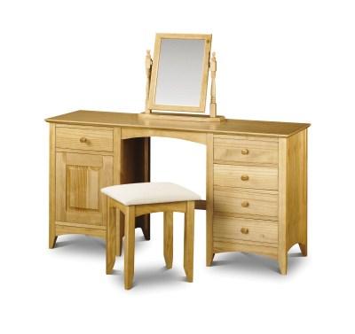 Morento Pine Dressing Table Twin Pedestal