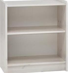 Whitewash Scandinavian Pine Low Bookcase Danish Made Quality