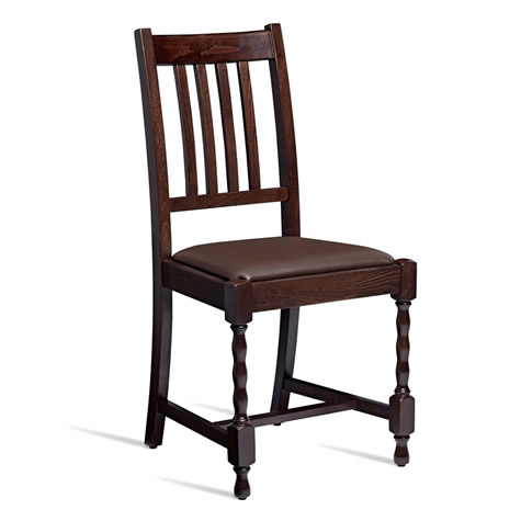 Charleston Side Chair With Padded Seat - Commercial Quality Fully Assembled