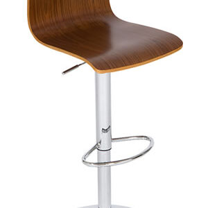 Layvon Breakfast Adjustable Kitchen Bar Stool With A Medium Wood Colour