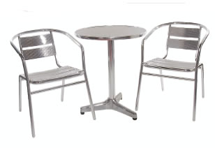 Leit61 Table And Chairs Aluminium Frame Table And Stacking Chairs Indoor Outdoor Use