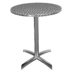 Leit61 Round Bistro Table Indoor Outdoor Aluminium Flip Top Folding Table