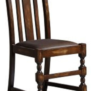 Lilith Antique Style Solid Beech Chair - Distressed Bark