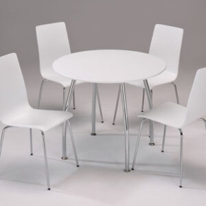 Lingham White Wood Dining Set