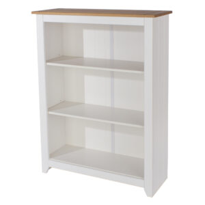 Shelton Pine And White 3 Shelf Low Bookcase