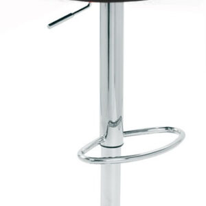 Alexis Real Leather Kitchen Bar Stool Chrome Frame 4 Colours Height Adjustable - Brown
