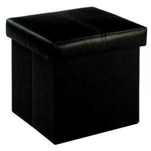 Medit Storage ottoman Small Black