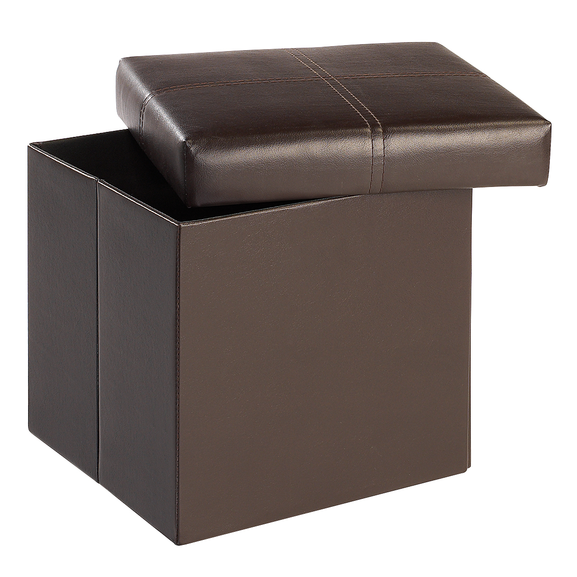 Medit Storage ottoman Small Brown