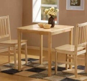 Mila Square Beech Table And 2 Chairs