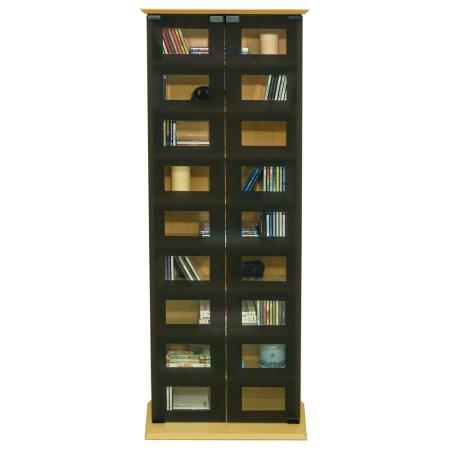 Hamn Wood Media Storage Cupboard