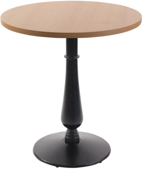 Ballad Cast Iron Circular Beech Dining Table