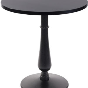 Ballad Cast Iron Circular Black Dining Table