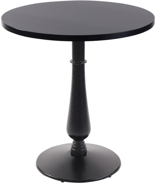 Ballad Cast Iron Circular Black Dining Table