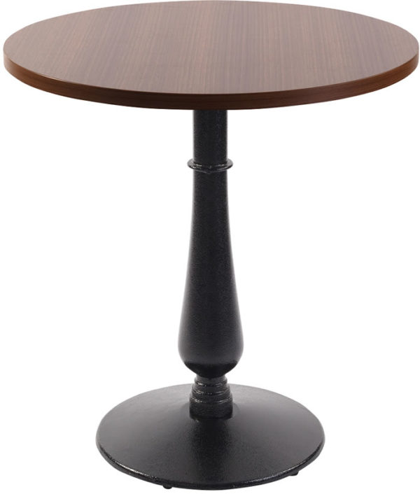 Ballad Cast Iron Circular Oak Dining Table