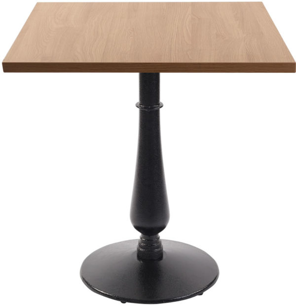 Ballad Cast Iron Square Wenge Dining Table