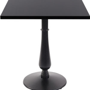 Ballad Cast Iron Square Black Dining Table